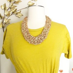 Vintage statement classic beaded necklace